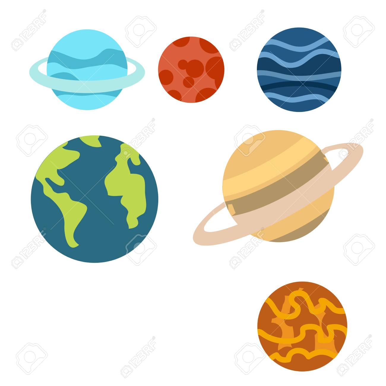 hight resolution of space planets cartoon or space planets clipart cartoon isolated on white background illustration stock vector