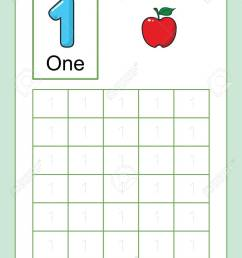 Number Tracing And Writing Tracing Worksheet For Kindergarten.. Royalty  Free Cliparts [ 1300 x 919 Pixel ]