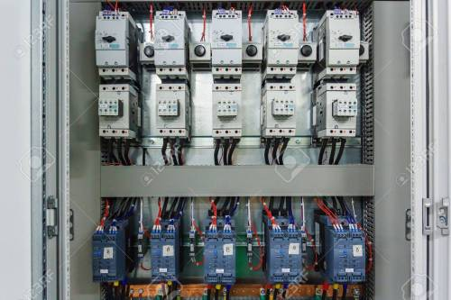 small resolution of wiring plc control panel with wires in cabinet for machine industrial machine wiring standards industrial machine wiring