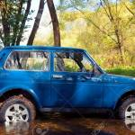Soviet And Russian Suv Lada Niva 4x4 In Water Stock Photo Picture And Royalty Free Image Image 18723923