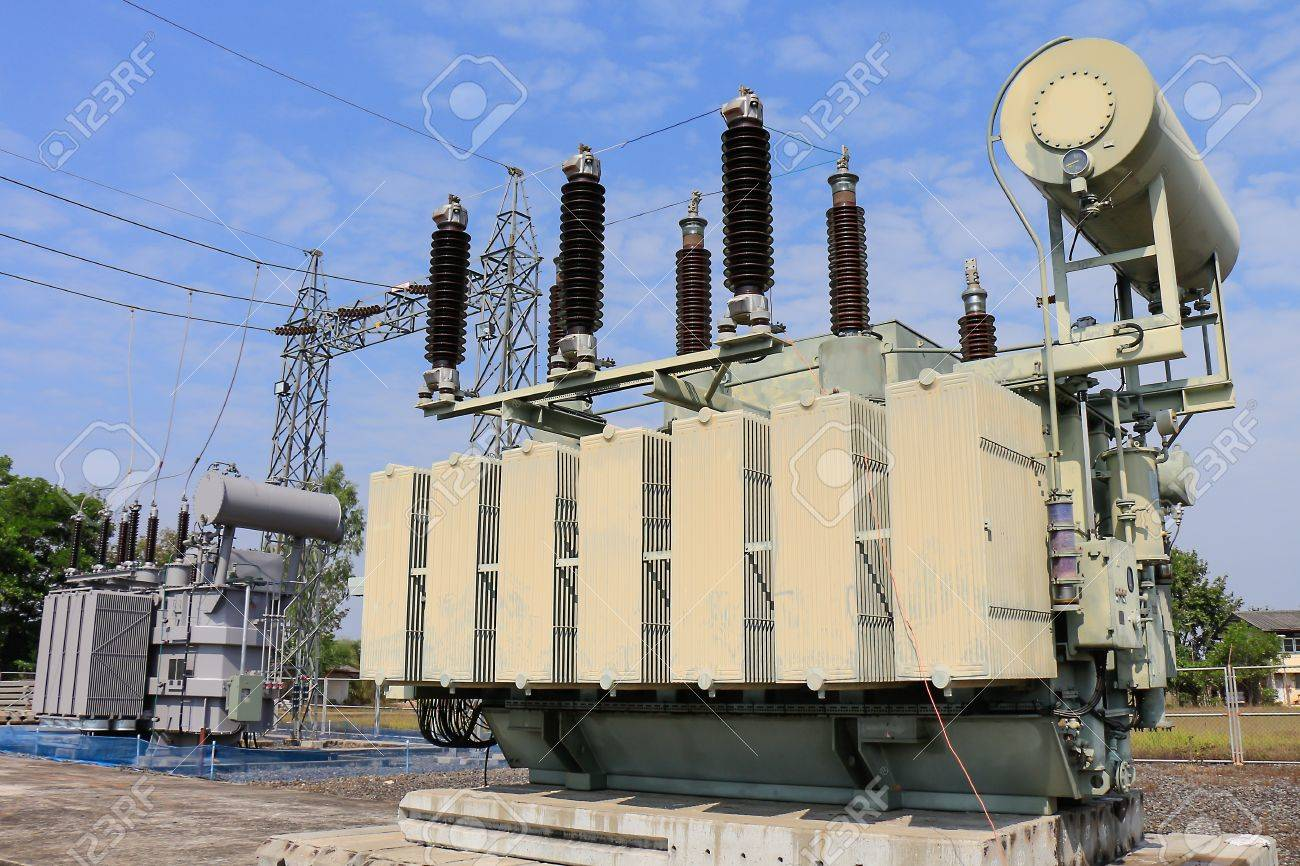 hight resolution of old transformer was replaced with a new one because of overload stock photo 54572413