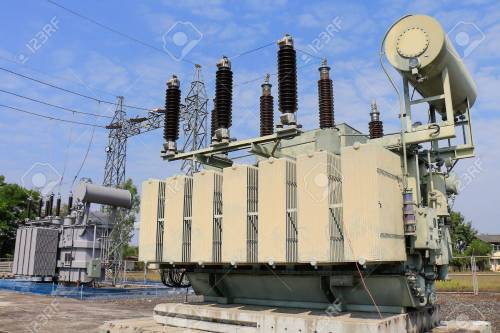 small resolution of old transformer was replaced with a new one because of overload stock photo 54572413