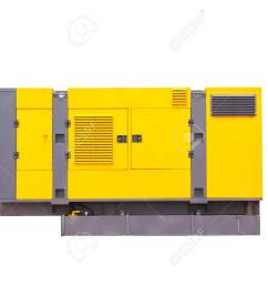 mobile diesel generator for emergency electric power isolated on white background clipping path  [ 1300 x 975 Pixel ]