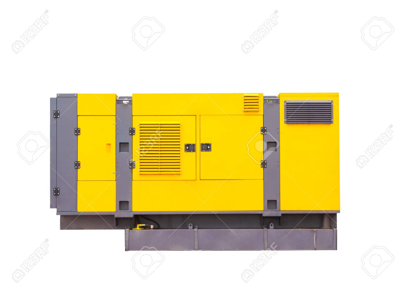 hight resolution of mobile diesel generator for emergency electric power isolated on white background clipping path