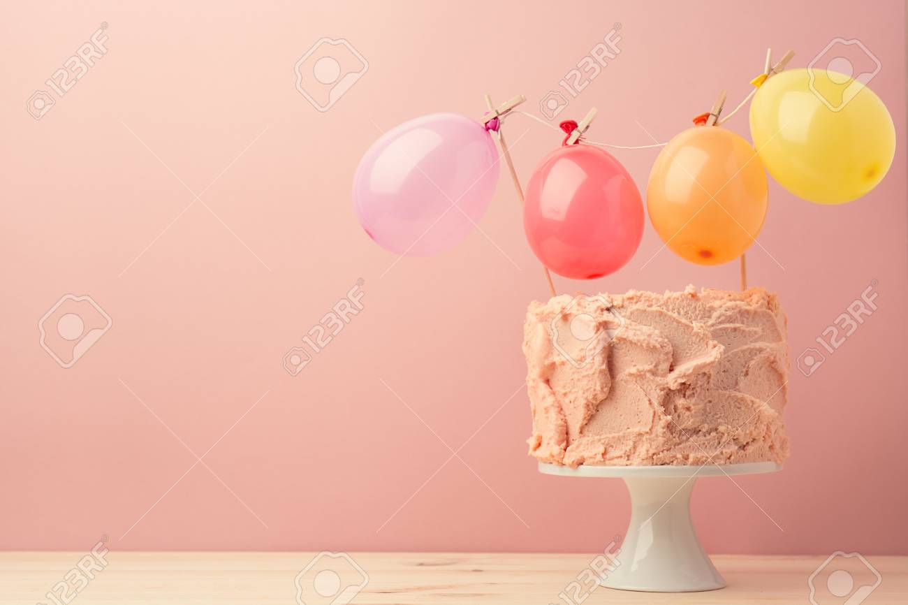 composed birthday cake in