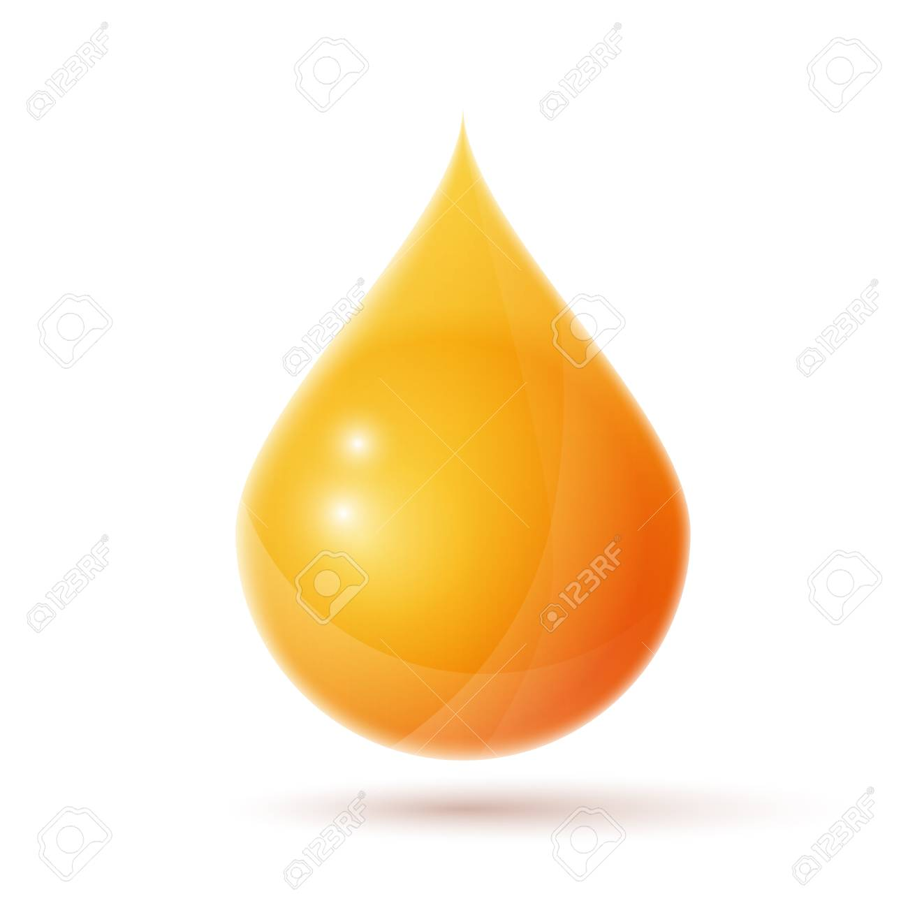 oil drop logo isolated