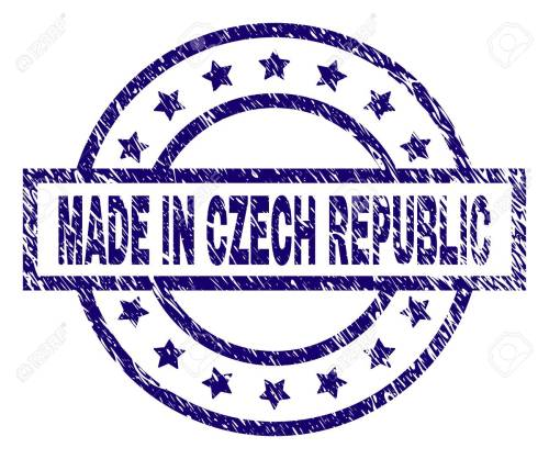 small resolution of made in czech republic stamp seal watermark with grunge texture designed with rectangle circles