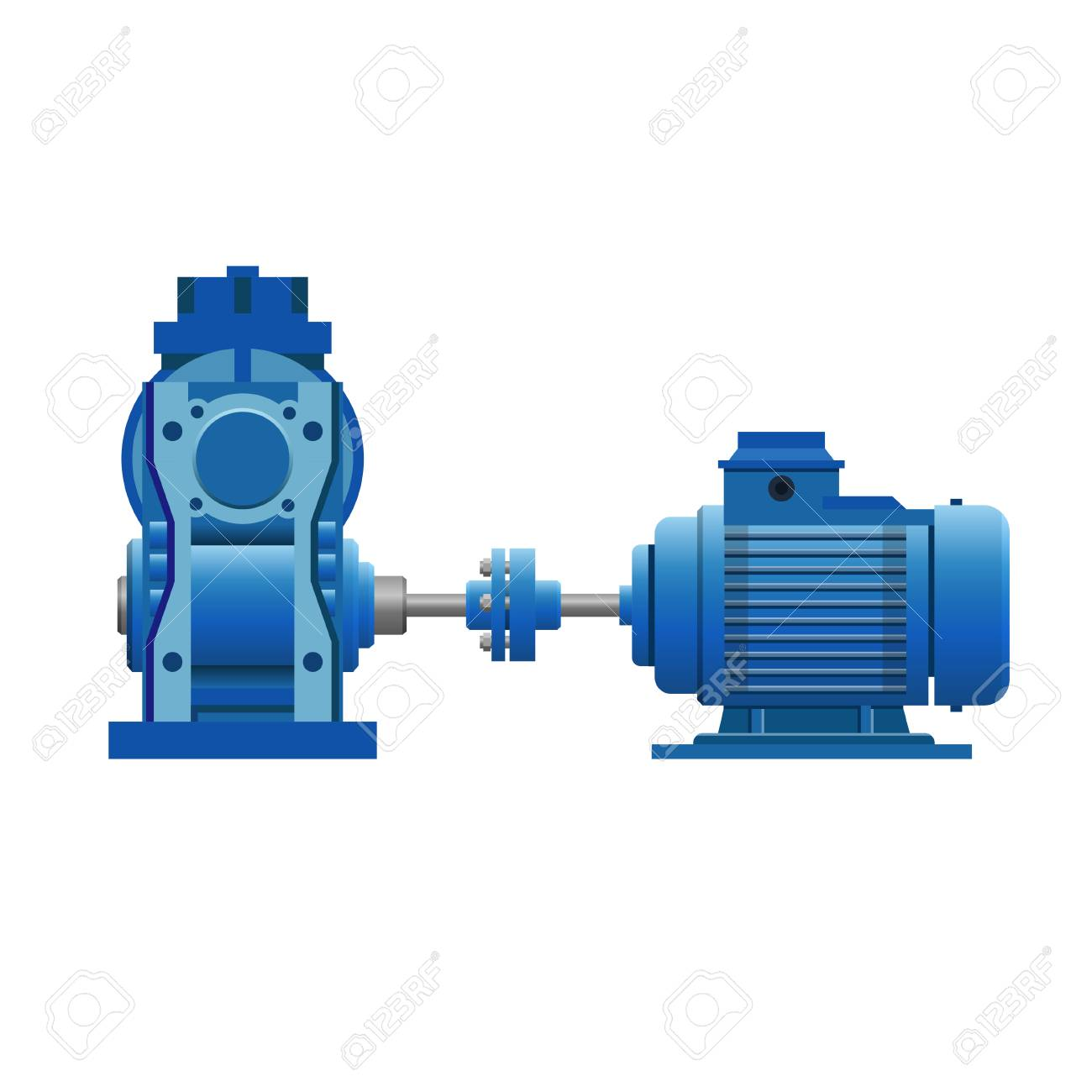 hight resolution of induction motor with gear set vector illustration isolated on rh 123rf com