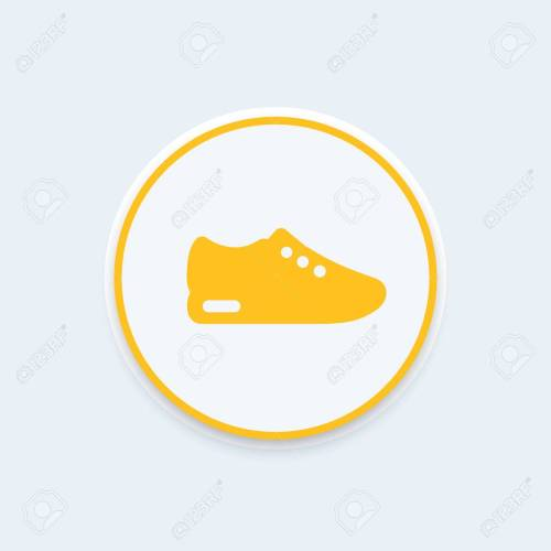 small resolution of running shoe icon trainers sneakers round icon pictogram vector illustration stock vector