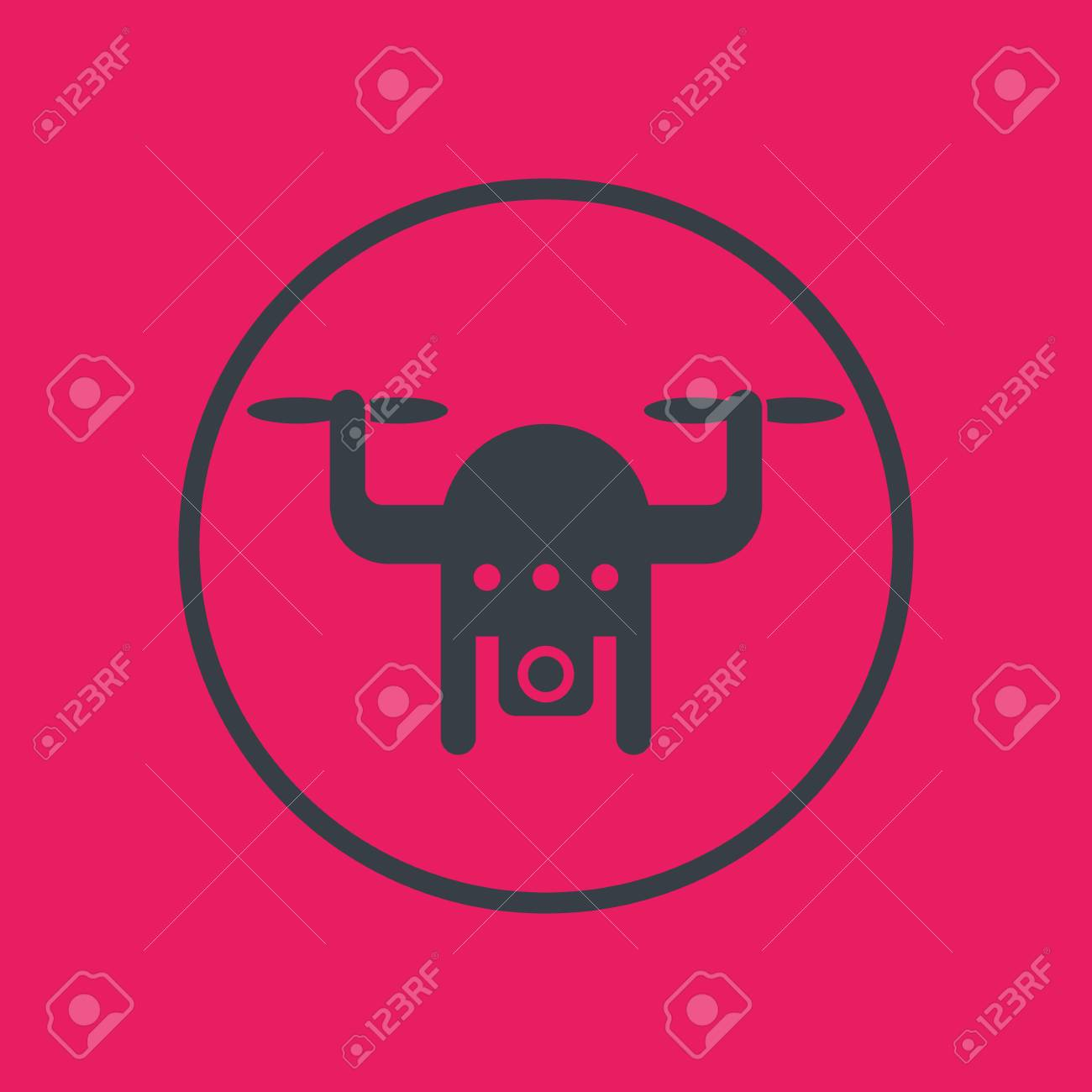 drone icon in circle