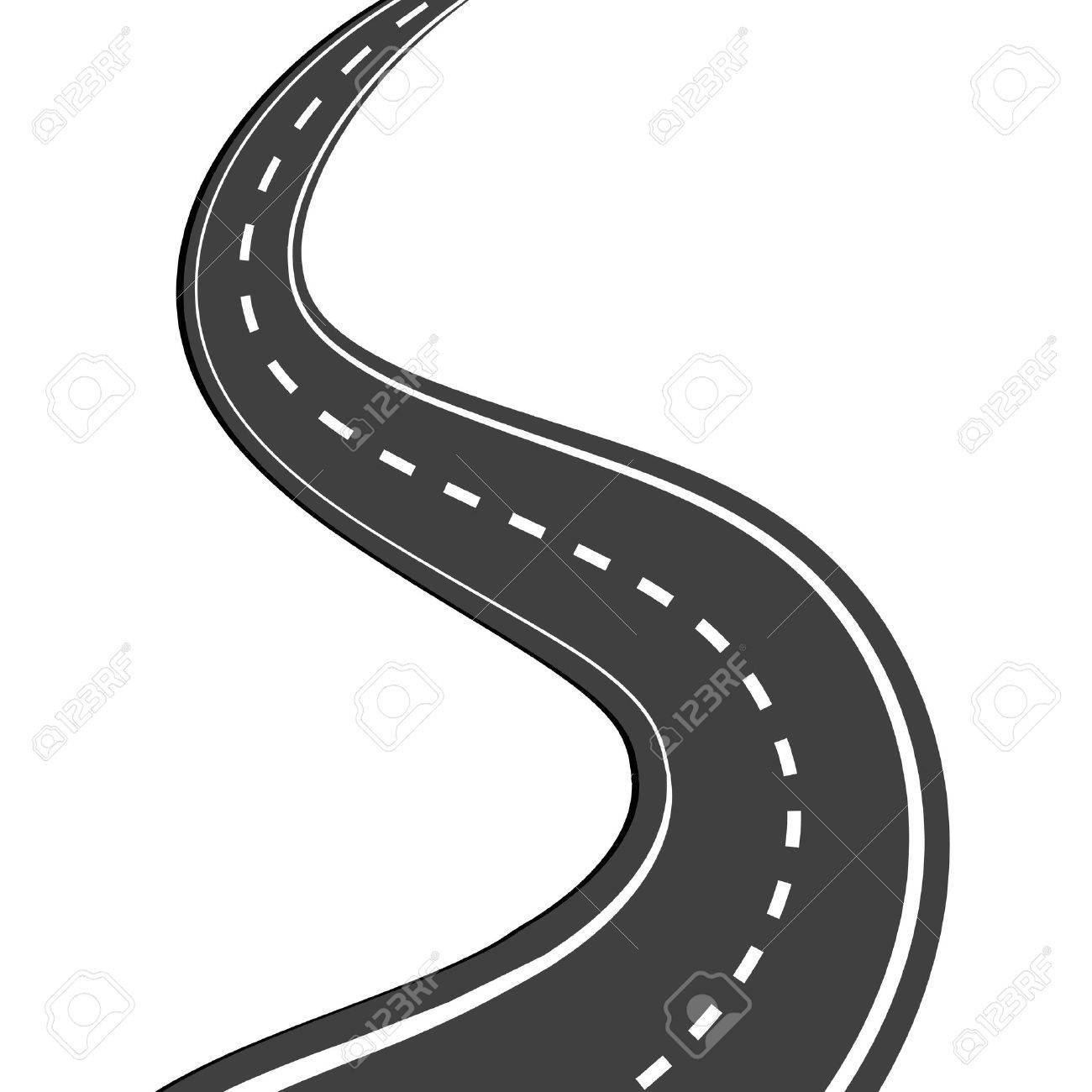 hight resolution of vector winding road