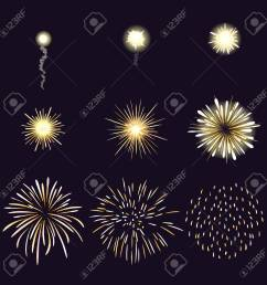 animation of firework effect in cartoon comic style festival and event celebrate and party [ 1300 x 1300 Pixel ]
