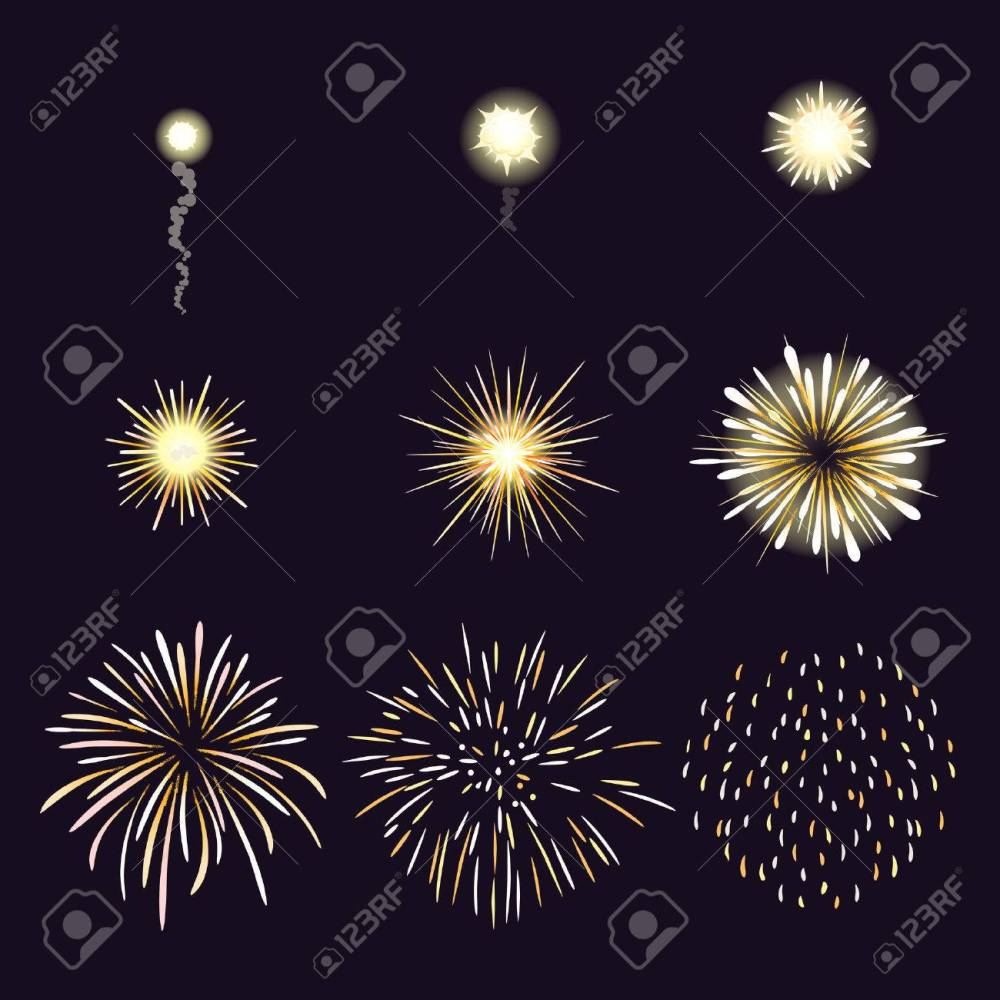medium resolution of animation of firework effect in cartoon comic style festival and event celebrate and party