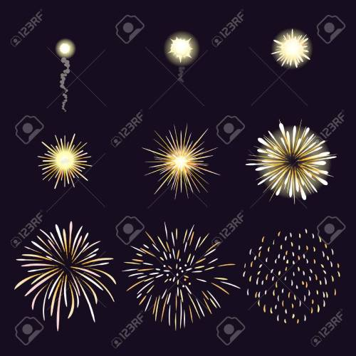 small resolution of animation of firework effect in cartoon comic style festival and event celebrate and party