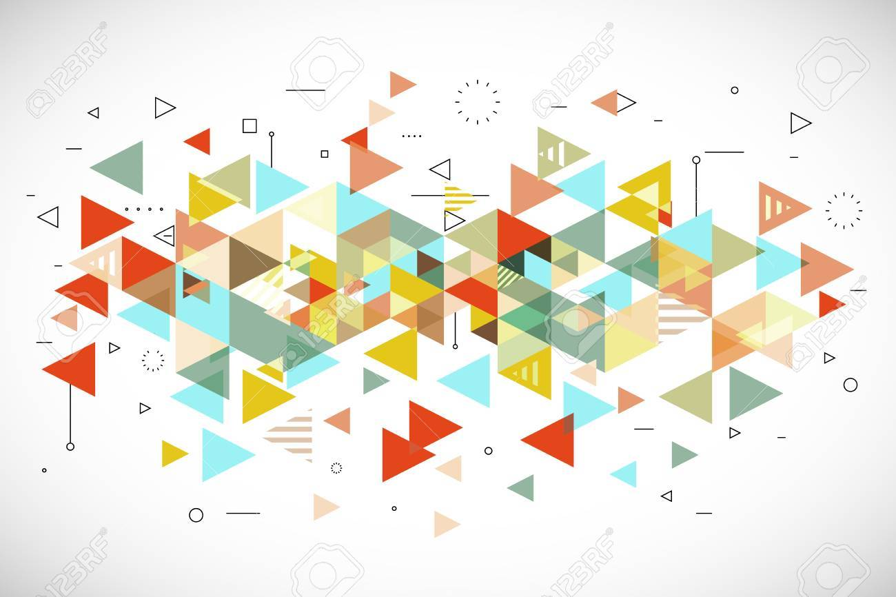 abstract modern triangle background