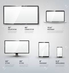 tv screen lcd monitor and notebook tablet computer mobile phone templates electronic [ 1299 x 1300 Pixel ]