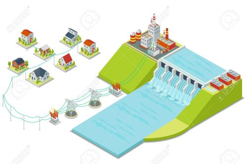 small resolution of hydro power plant 3d isometric electricity concept energy electric alternative hydroelectric hydro