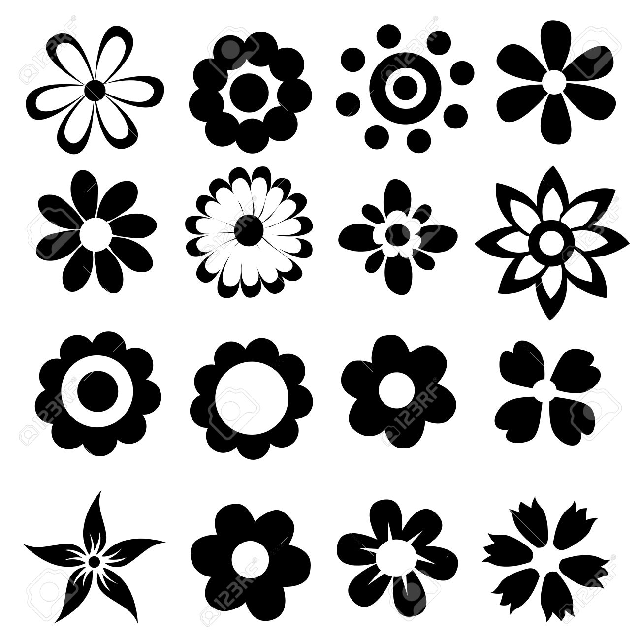 silhouettes of simple vector