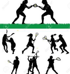 vector women s lacrosse vector silhouettes [ 1198 x 1300 Pixel ]