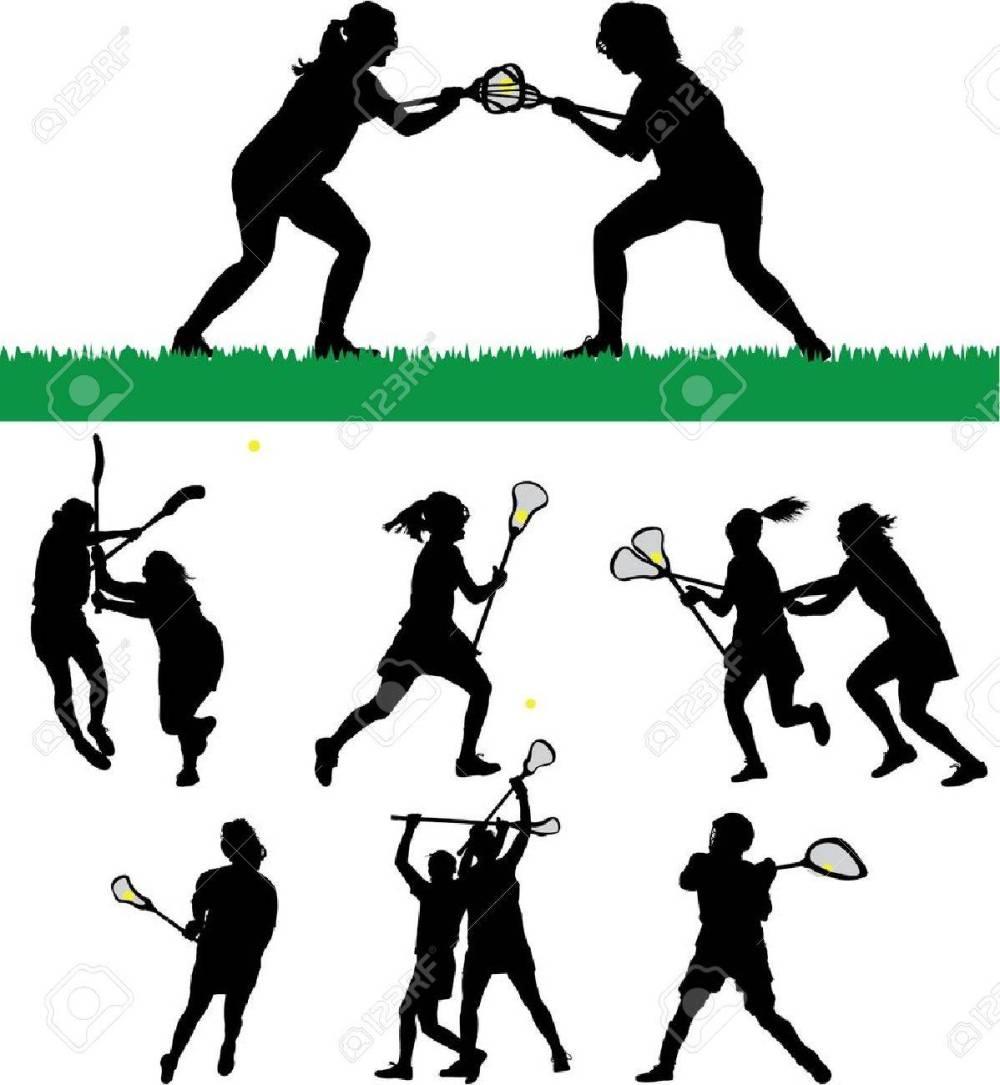 medium resolution of vector women s lacrosse vector silhouettes