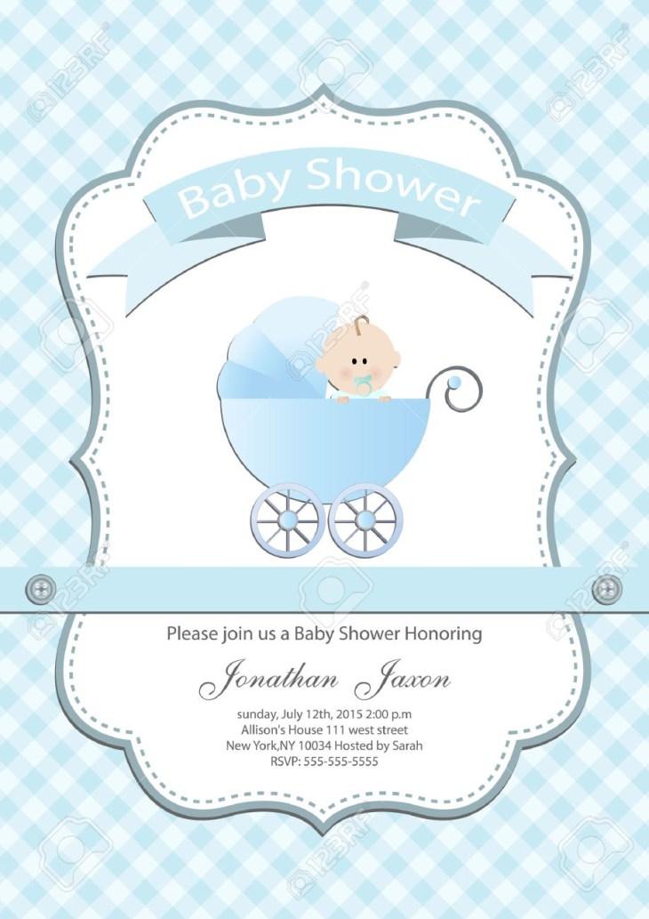 Baby boy baby shower invitation card Stock Vector - 31430267