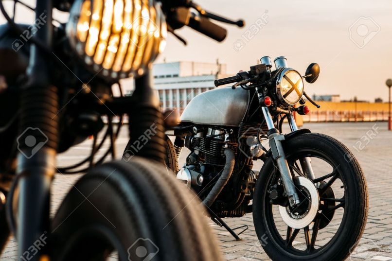 Vintage Custom Motorcycle Cafe Racer