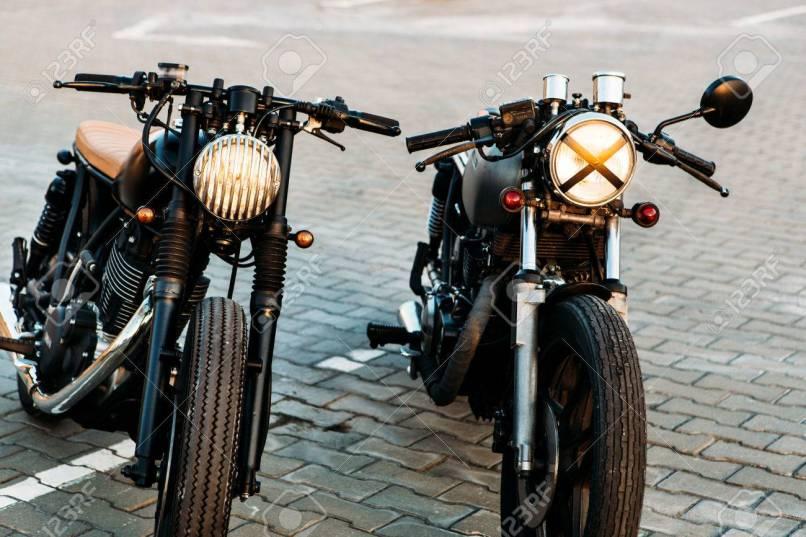 Vintage Custom Motorbike Caferacer