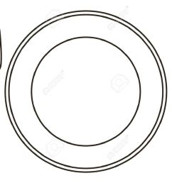 plate knife and fork stock vector 14967848 [ 1300 x 1040 Pixel ]