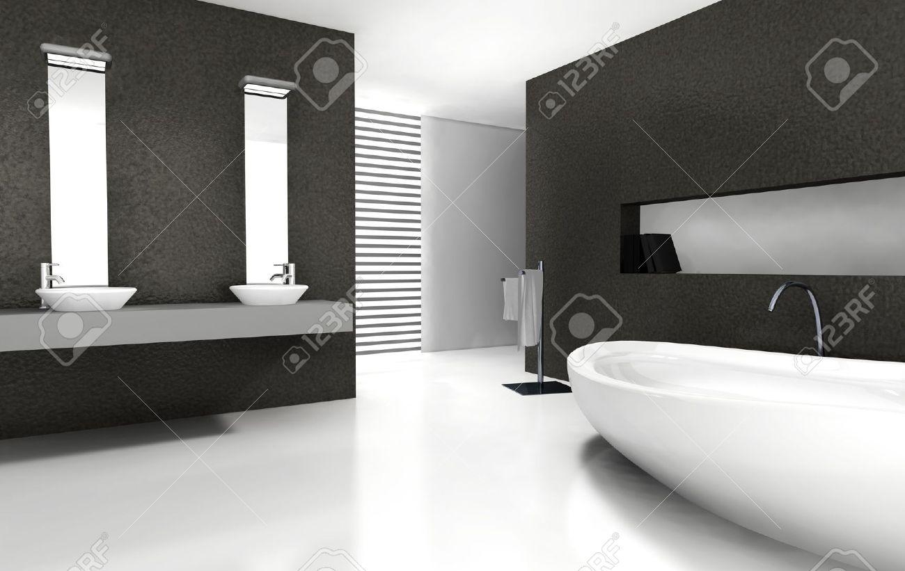 Bagni Moderni Bianchi E Neri.Bagni Moderni Bianchi E Neri Bagno Moderno Grigio Idee Per La Casa
