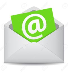 email icon vector clip art for web contact and business newsletter with an e mail [ 1300 x 1300 Pixel ]