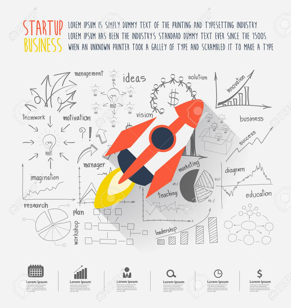 rocket ship diagram car horn relay wiring startup business idea concept rocketship on inspiration creative thinking drawing charts and graphs success