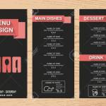 Restaurant Menu Infographics Background And Elements Pink On Royalty Free Cliparts Vectors And Stock Illustration Image 44491508