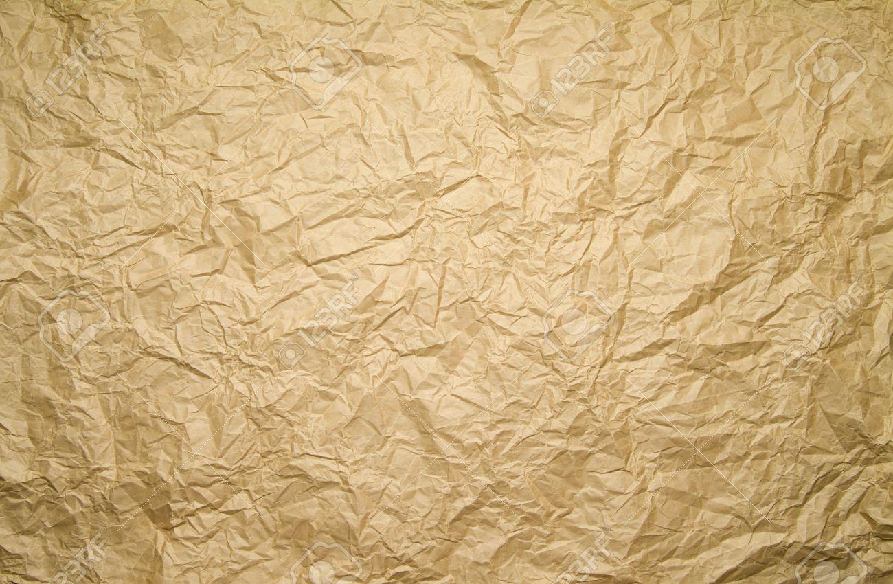crinkled brown paper background