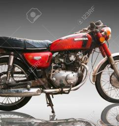 stock photo vintage classic motorcycle honda 125 cc editorial use only use of this image in advertising or for promotional purposes is prohibited  [ 1300 x 870 Pixel ]