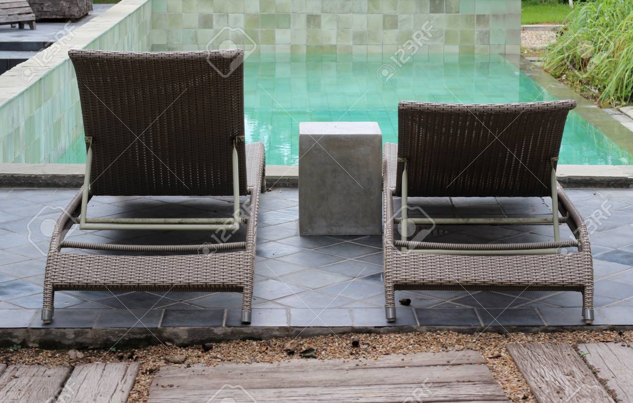 Pool Deck Chairs Rattan Deck Chairs On Pool Deck