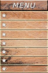 Menu Items On The Old Wood Texture Background Stock Photo Picture And Royalty Free Image Image 11062893
