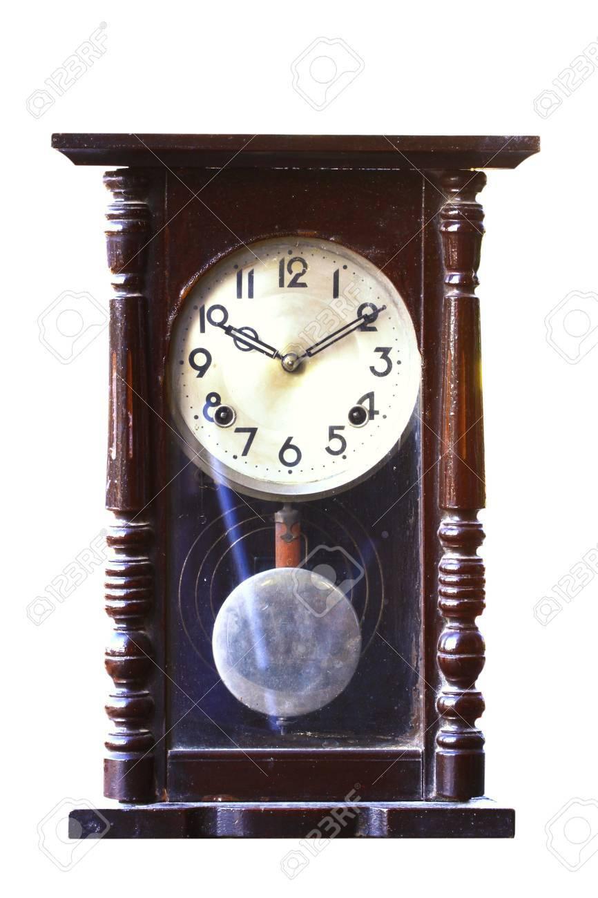 isole a l ancienne mode horloge en bois avec pendule