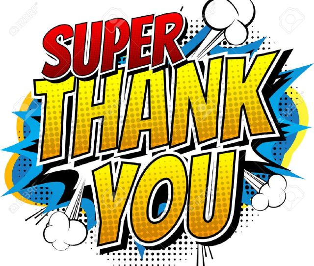 Super Thank You Comic Book Style Word Isolated On White Background Stock Vector