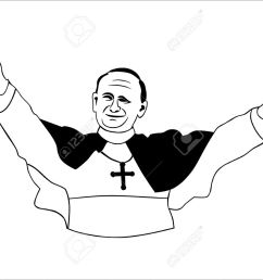 pope without gradients easy to change colors stock vector 17119709 [ 1300 x 950 Pixel ]