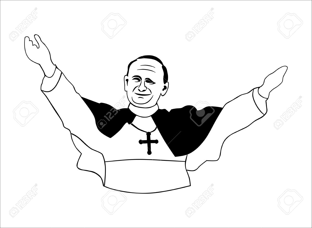 hight resolution of pope without gradients easy to change colors stock vector 17119709