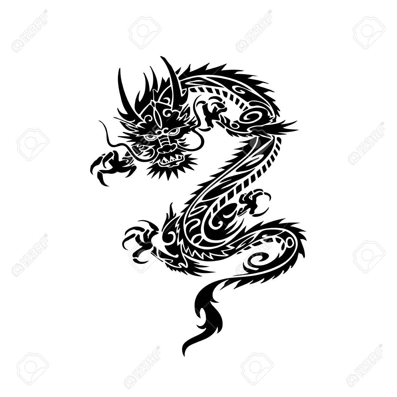 chinese dragon tattoo design