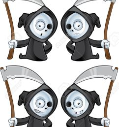 a cute little grim reaper illustration with different facial expressions stock vector 22731048 [ 866 x 1300 Pixel ]