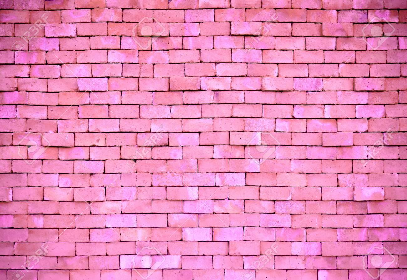 vintage pink brick wall