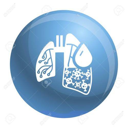 small resolution of pneumonia virus lungs icon simple illustration of pneumonia virus lungs icon for web design isolated