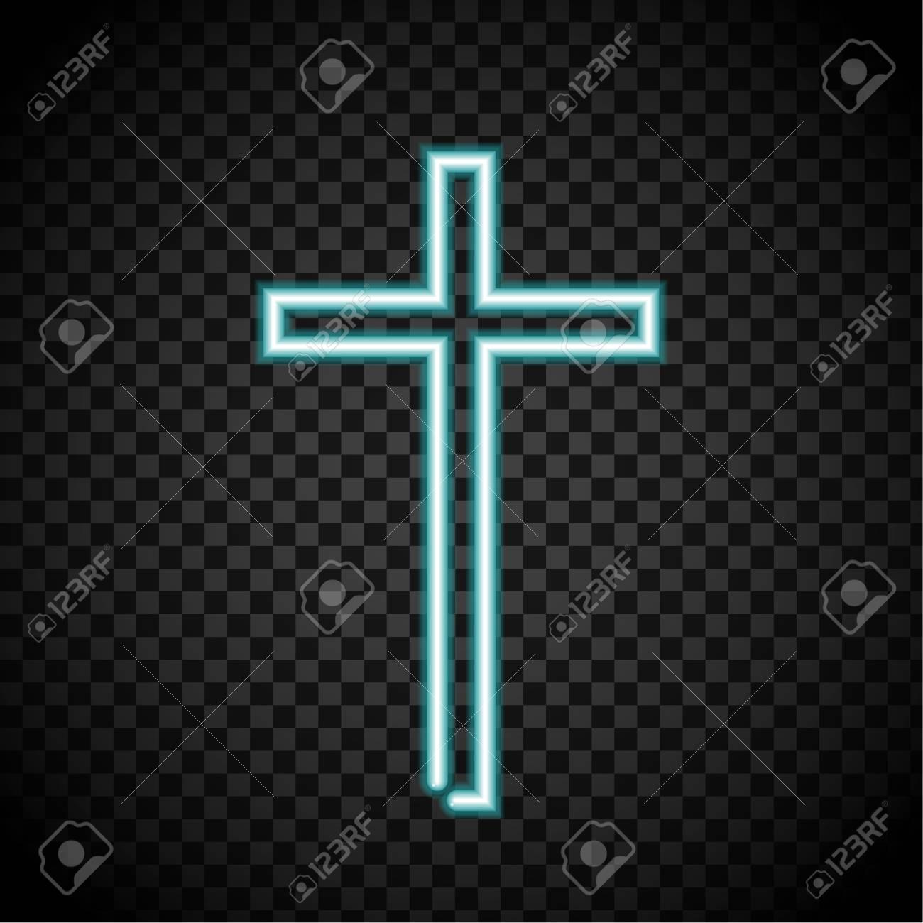 neon cross glowing cross