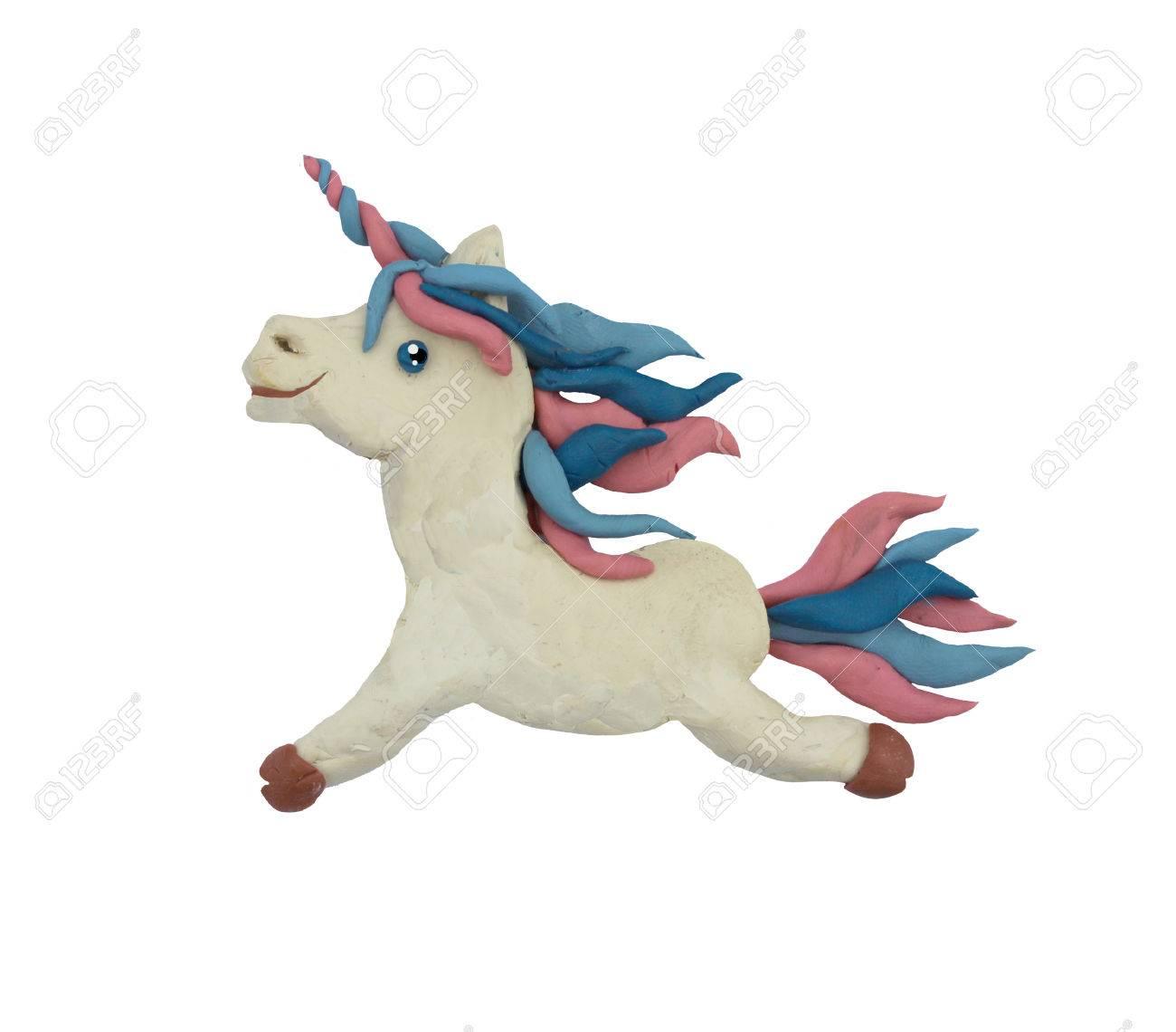plasticine fantasy unicorn sculpture