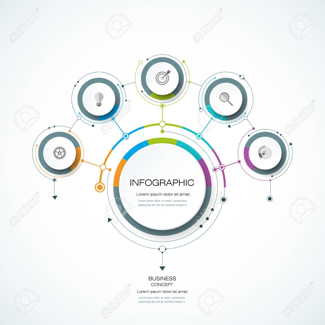 hight resolution of infographics for business presentations or information banner process diagram flow chart graph scheme