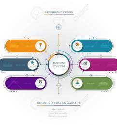 vector vector infographic template with 3d paper label integrated circles business concept with options for content diagram flow chart steps parts  [ 1300 x 1016 Pixel ]
