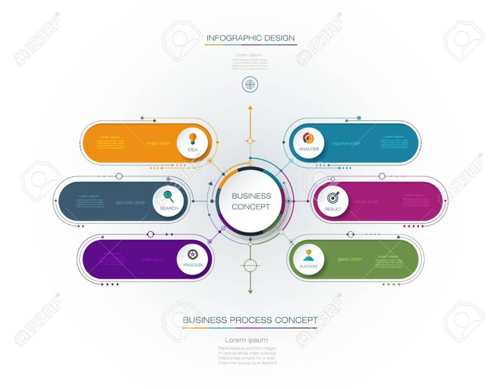 medium resolution of vector vector infographic template with 3d paper label integrated circles business concept with options for content diagram flow chart steps parts