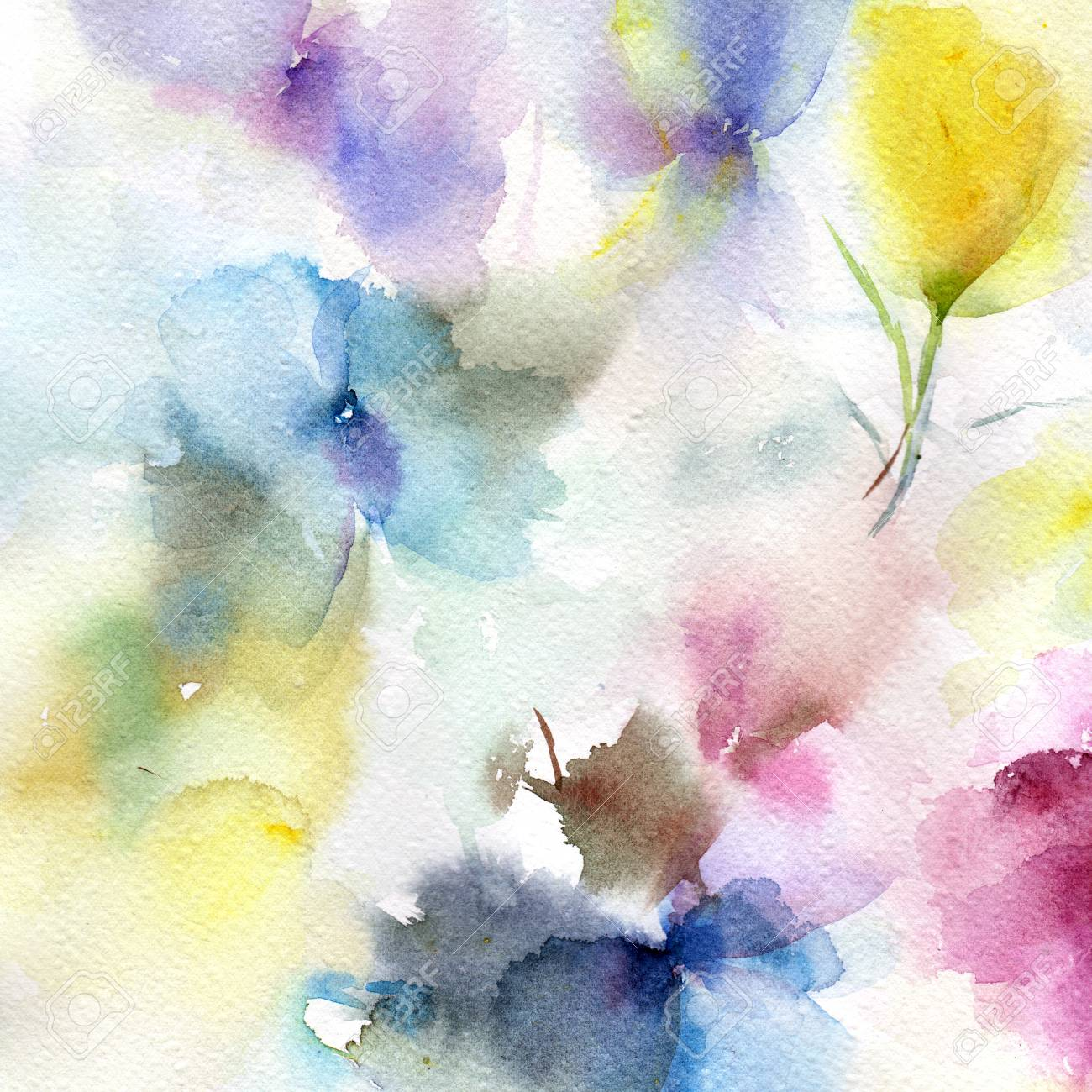 floral background watercolor abstract